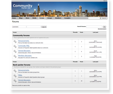 communitySite forums