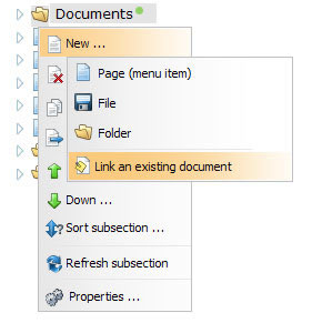 linked documents create